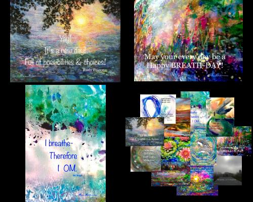 Emily Eisen EMPart Art Daily pOeMs Prints and Postcards Set 1